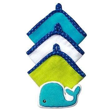 BabyOno mycí utěrky s houbičkou - velryba (5901435405086)