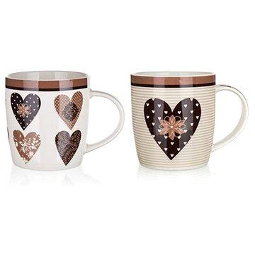 BANQUET Hrnek keramický CHOCO HEARTS 360 ml (60220007)