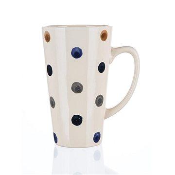 BANQUET Hrnek keramický DOTS 450 ml, vysoký, 4 ks (60221560)