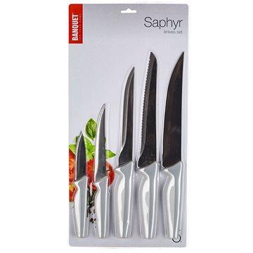 BANQUET Sada nožů SAPHYR, 5 ks, šedá (25055104)