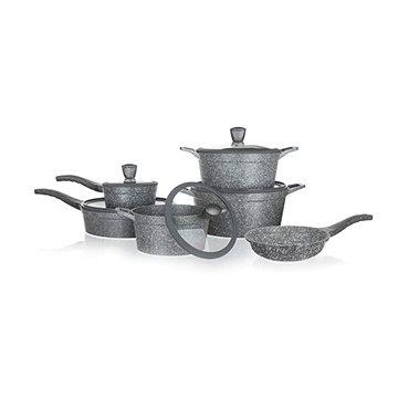 BANQUET Sada nádobí s nepřilnavým povrchem GRANITE, 11 ks (A16735)