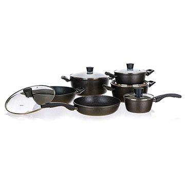 BANQUET Sada nádobí s nepřilnavým povrchem GRANITE Royal, 11 ks (40020701)