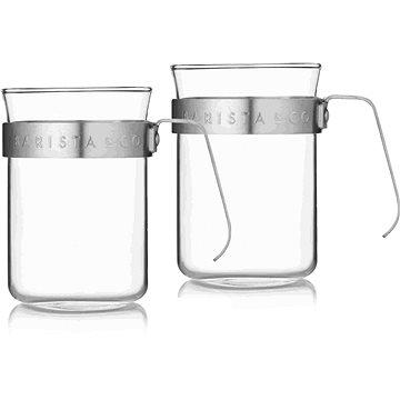 Barista&Co set šálků 2 šálků Electric Steel (BC024-005)
