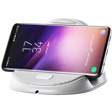 Baseus Silicone Horizontal Desktop Wireless Charger White (WXHSG-02)