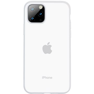 Baseus Jelly Liquid Silica Gel Protective Case pro iPhone 11 Pro Max Transparent White (WIAPIPH65S-GD02)