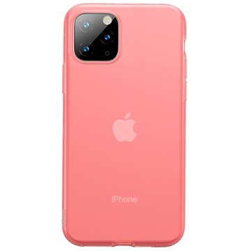 Baseus Jelly Liquid Silica Gel Protective Case pro iPhone 11 Pro Max Transparent Red (WIAPIPH65S-GD09)