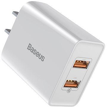 Baseus Speed Mini QC Dual USB Quick Charger (US) 18W White (CCFS-Q02)