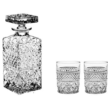 Bohemia Crystal Whisky set 3ks MADISON (07600/954)