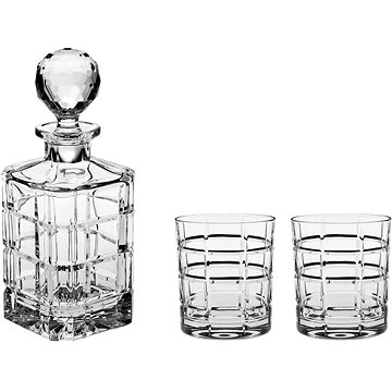 BOHEMIA CRYSTAL Whisky set 3ks TIMESQUARE (11182/832)