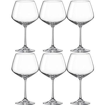 BOHEMIA CRYSTAL Sklenice na červené víno 580 ml GISELLE 6ks (CX40753580/6)