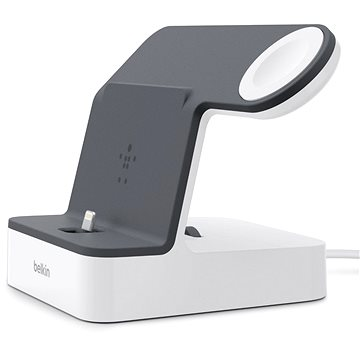 Belkin PowerHouse Charge Dock pro Apple Watch + iPhone bílý/černý (F8J200vfWHT)
