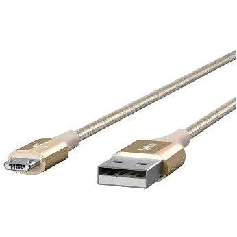 Belkin Premium Kevlar USB 2.0 /microUSB 1.2m, zlatý (F2CU051bt04-GLD)
