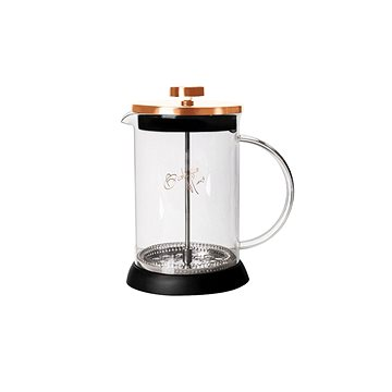 BerlingerHaus Konvička na čaj a kávu French Press 600 ml Rosegold Metallic Line (BH-1494)
