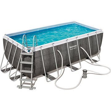 BESTWAY Rectangular Pool Set 4.12m x 2.01m x 1.22m (56722)
