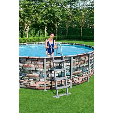 BESTWAY Power Steel Pool Set 4.88m x 1.22m (56966)