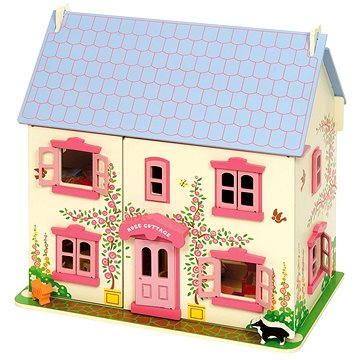 Ružový detský domček pre bábiky (691621261019)