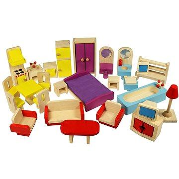 Dřevěný nábytek do domečku pro panenky (691621261163)