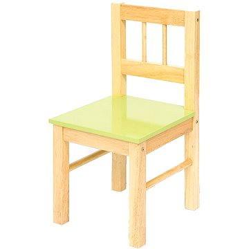 Dětská zelená dřevěná židle (691621023655)