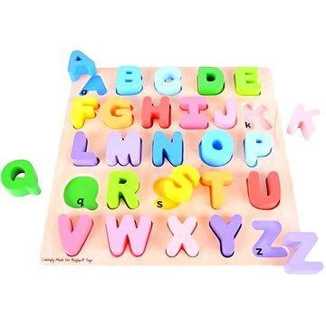 Dřevěná motorická vzdělávací hračka - Abeceda (691621160558)