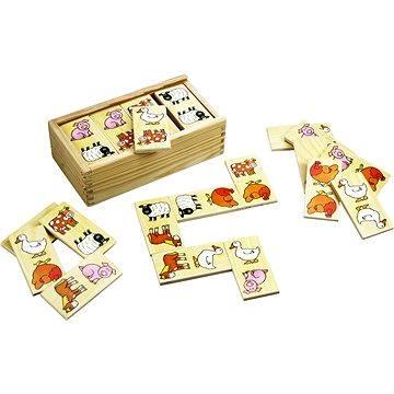 Bigjigs Drevené domino - Farma(691621197363)