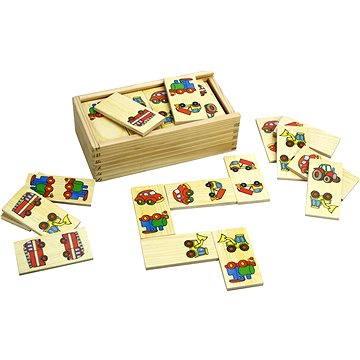 Bigjigs Drevené domino – Dopravné prostriedky(691621087381)