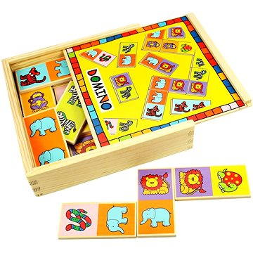 Bigjigs Drevené domino so zvieratkami(691621195291)
