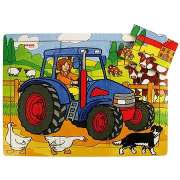 Dřevěné puzzle - Traktor (691621087268)