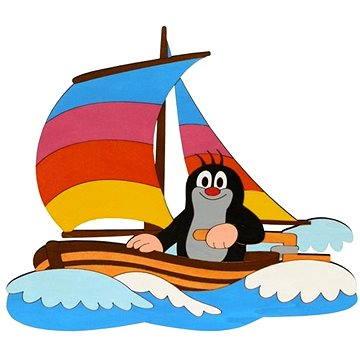 Dřevěná dekorace - Krtek na lodi