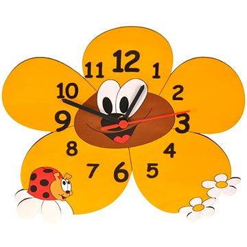 Hodiny do dětského pokoje Dětské dřevěné hodiny - Kopretiny (8594155460250)