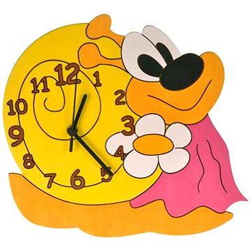 Dětské dřevěné hodiny - Šneková