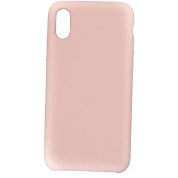 C00Lcase iPhone XS Liquid Silicon Case Sand Pink