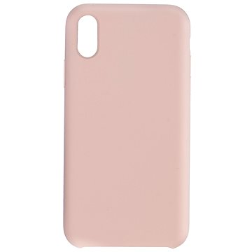 C00Lcase iPhone XR Liquid Silicon Case Sand Pink