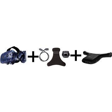 HTC Vive Pro Eye + Wireless Adaptor + Clip for Vive Pro (99HARJ002-00/99HANN013-00)