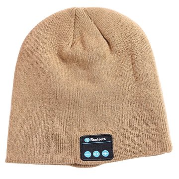 Beanie Bluetooth zimní čepice khaki