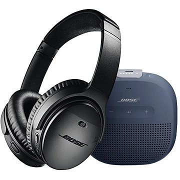 Bose QC 35 II Black a Bose SL Micro Blue (QC 35 II Black a SL Micro Blue)