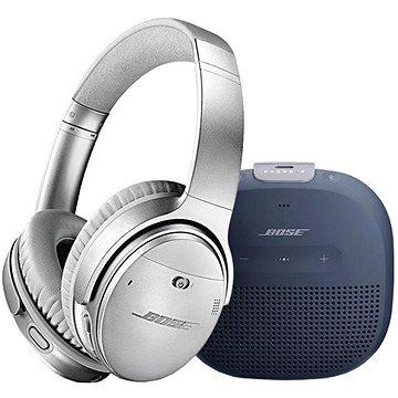 Bose QC 35 II Silver a Bose SL Micro Blue (QC 35 II Silver a SL Micro Blue)