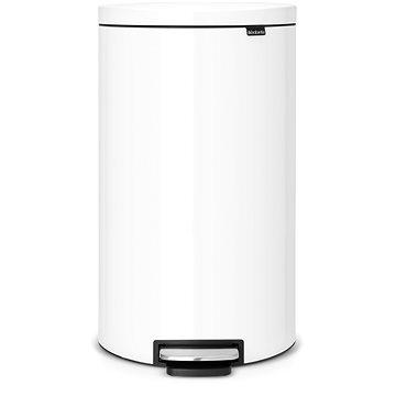 Odpadkový koš Brabantia FlatBack pedálový + Silent 30l, bílá (485206)