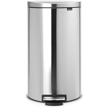 Odpadkový koš Brabantia FlatBack pedálový + Silent 30l, matná ocel (482007)