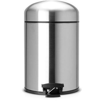 Odpadkový koš Brabantia Pedálový koš Retro Classic 5l, matná ocel (361883)