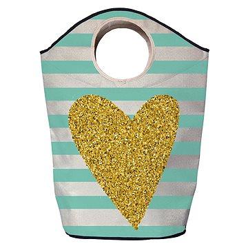 Koš na prádlo Butter Kings multifunkční pytel gold heart (BG89)