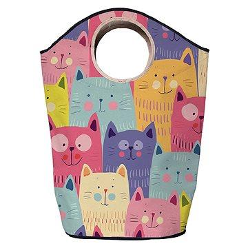 Koš na prádlo Butter Kings multifunkční pytel cats in colours (BG62)