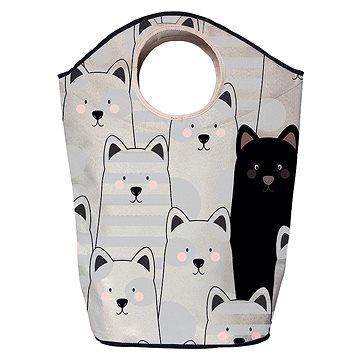 Koš na prádlo Butter Kings multifunkční pytel black cat (BG35)