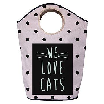 Koš na prádlo Butter Kings multifunkční pytel we love cats (KG54)