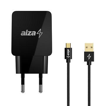AlzaPower Q100 Quick Charge 3.0 + AlzaPower AluCore Micro USB 1m černý (BUN)