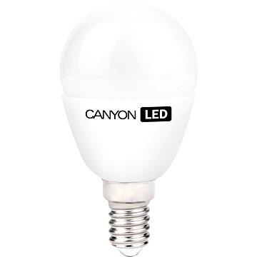 Canyon LED COB žárovka, E14, kompakt kulatá mléčná, 6W (PE14FR6W230VN)