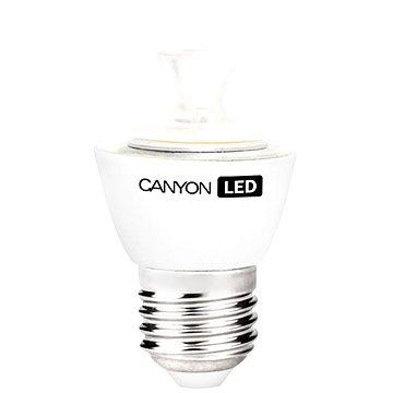 Canyon LED COB žárovka, E27, kompakt kulatá průhledná, 3.3W (PE27CL3.3W230VN)