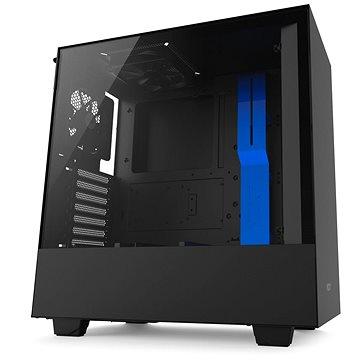 NZXT H500 černo-modrá (CA-H500B-BL)