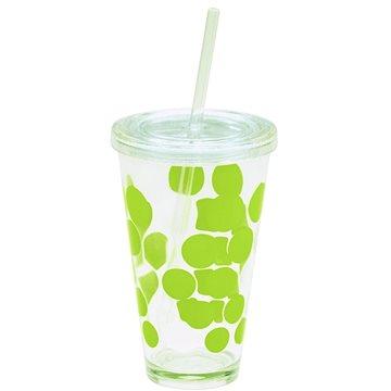 ZAK DOT DOT Ice plastová sklenice 480ml, zelená (0989-5720)