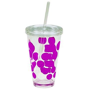 ZAK DOT DOT Ice plastová sklenice 480ml, fuchsia (1213-5720)