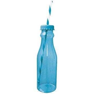 ZAK Soda láhev s brčkem 700ml, aqua modrá/bílá (0412-0170)